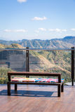 Beautiful mountain view from restaurant in Khaokho national park Stock Images