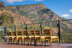 Beautiful mountain view from restaurant in Khaokho national park Royalty Free Stock Images