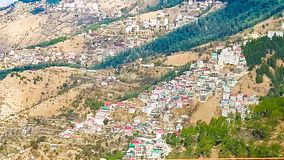 Beautiful Mountain view in shimla stock photography