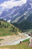 Beautiful mountain view with snow of Sonamarg, Jammu and Kashmir state Stock Photos