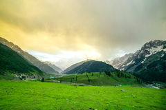 Beautiful mountain view with snow of Sonamarg, Jammu and Kashmir state. India Stock Photography