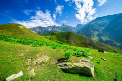 Beautiful mountain view with snow of Sonamarg, Jammu and Kashmir state Stock Image