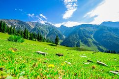 Beautiful mountain view with snow of Sonamarg, Jammu and Kashmir state Royalty Free Stock Photo