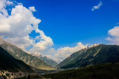 Beautiful mountain view of Sonamarg, Jammu and Kashmir state, India. A Beautiful mountain view of Sonamarg mountain, Jammu and Kashmir state, India stock photography