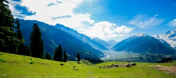 Beautiful mountain view of Sonamarg, Jammu and Kashmir state, India. A Beautiful mountain view of Sonamarg mountain, Jammu and Kashmir state, India stock image
