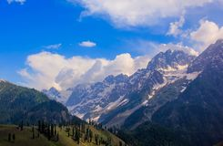 Beautiful mountain view of Sonamarg, Jammu and Kashmir state, India. A Beautiful mountain view of Sonamarg mountain, Jammu and Kashmir state, India stock photo