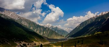 Beautiful mountain view of Sonamarg, Jammu and Kashmir state, India. A Beautiful mountain view of Sonamarg mountain, Jammu and Kashmir state, India royalty free stock photography