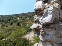 Beautiful mountain view, Turkey. Beautiful mountain landscape, Marmaris, Turkey stock photography