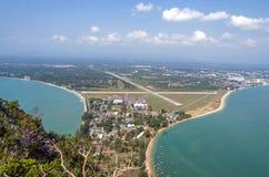 Beautiful mountain views at Prachuap Bay. Royalty Free Stock Photo