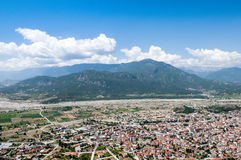 Beautiful mountain village panoramic view Royalty Free Stock Image