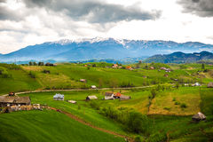 Beautiful mountain village in Romania Royalty Free Stock Images