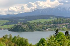 Beautiful mountain village. royalty free stock images