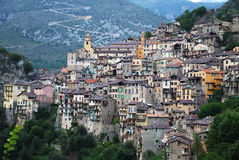 Beautiful mountain village Saorge. Royalty Free Stock Photo