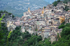 Beautiful mountain village Saorge. Stock Images