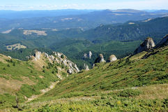Beautiful mountain vista in the Carpathians Stock Images