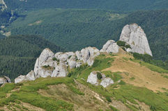Beautiful mountain vista in the Carpathians Royalty Free Stock Photo