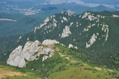 Beautiful mountain vista in the Carpathians Royalty Free Stock Image