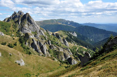 Beautiful mountain vista in the Carpathians Stock Photos