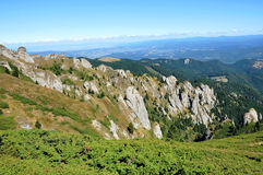 Beautiful mountain vista in the Carpathians Royalty Free Stock Photos