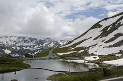 Beautiful mountain with water in Grossglockner Austria Royalty Free Stock Photography
