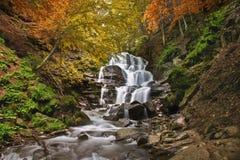 The Beautiful Mountain Waterfall Stock Photo