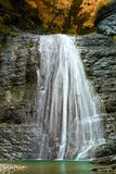 Beautiful waterfall on a mountain river Royalty Free Stock Photo