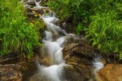 Beautiful mountain waterfall Stock Photography