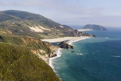 Beautiful Mountainous Pacific Ocean Coastline Royalty Free Stock Images