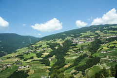 Beautiful mountainous village in Alps. Mountain landscape Royalty Free Stock Photo