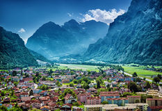 Beautiful mountainous village Royalty Free Stock Photo