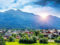 Beautiful mountainous village Stock Photography