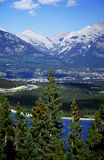 Beautiful mountains. View from hiking trail , Canmore, Alberta, Canada royalty free stock images