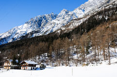 The beautiful mountains around bionaz in Valle d'Aosta,italy Stock Images