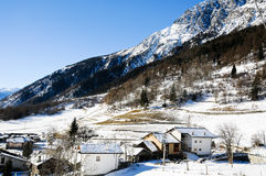 The beautiful mountains around bionaz in Valle d'Aosta,italy Royalty Free Stock Photo