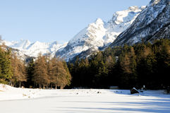 The beautiful mountains around bionaz in Valle d'Aosta,italy Stock Photo