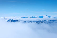 Beautiful mountains. Austrian Alps. Saalbach Royalty Free Stock Images