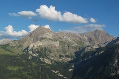Beautiful mountains in the Bernese Oberland Royalty Free Stock Image