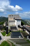 Castle in Celje, Slovenia. Beautiful mountains and castle view in Celje Stock Image