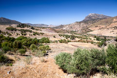Beautiful mountains close to Zahara in Spain Royalty Free Stock Photography