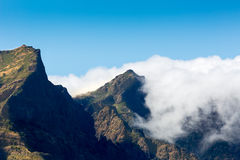 Beautiful mountains in clouds Stock Images