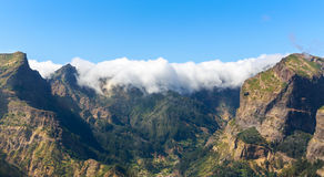 Beautiful mountains in clouds Royalty Free Stock Photo