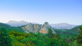 Beautiful Mountains in the Crimea, Ukraine Stock Image
