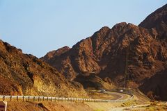 Mountains in the Desert of Negev, Israel Royalty Free Stock Photography