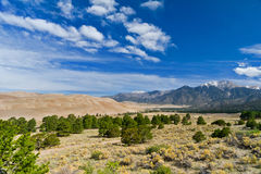 Beautiful mountains and dune landscape. royalty free stock images