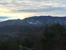 Beautiful Mountains. Mountains in Gatlinburg, TN. Sunny and snow Stock Photo