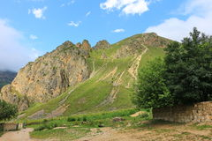 Beautiful mountains in Gusar region of Azerbaijan Stock Images