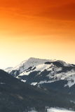 Beautiful Mountains in Kirchberg, Austria Royalty Free Stock Photos