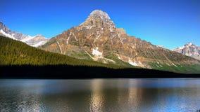 Canada, Banff National Park, Mountains Lake Scene Royalty Free Stock Photos