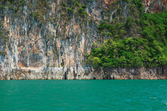 Beautiful mountains lake and natural attractions in Ratchaprapha Dam at Khao Sok National Park Royalty Free Stock Photo