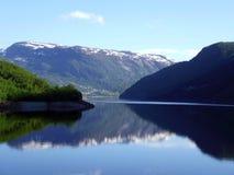 Beautiful mountains and lake, Norway royalty free stock photo